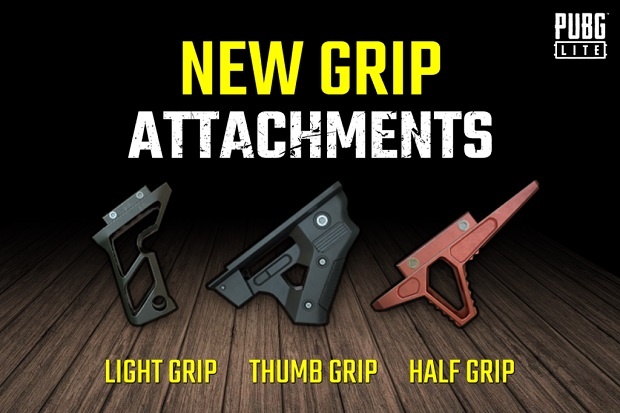 New grip attachments are added in PUBG Lite!