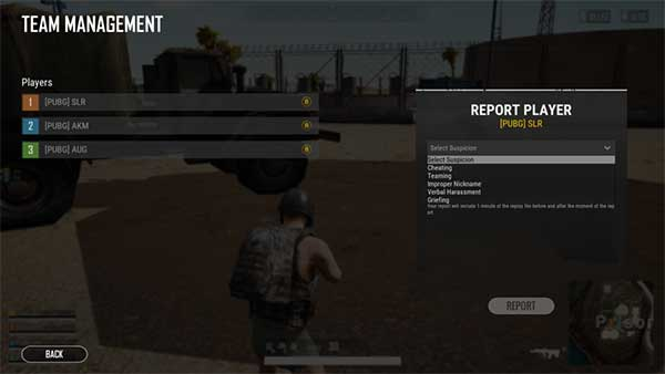 You can report the player who you suspect to has cheated!