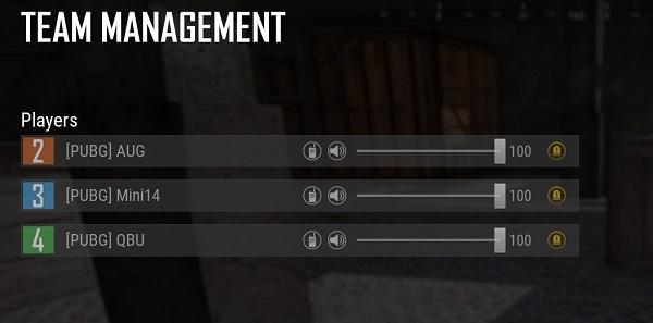 Team Management Settings