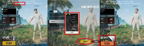 There are a wide range of equipment in PUBG Lite