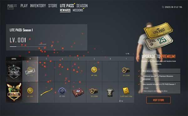 Lite Pass Season 1 rewards include a lot of items