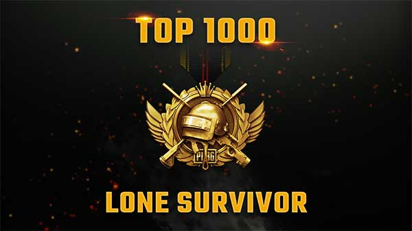 If you can achieve the Top 1000 Lone Survivor, you will earn a reward