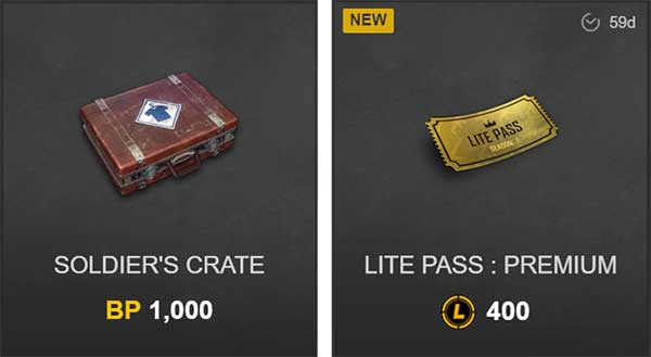 BP coins and L-coin are two currency in PUBG Lite