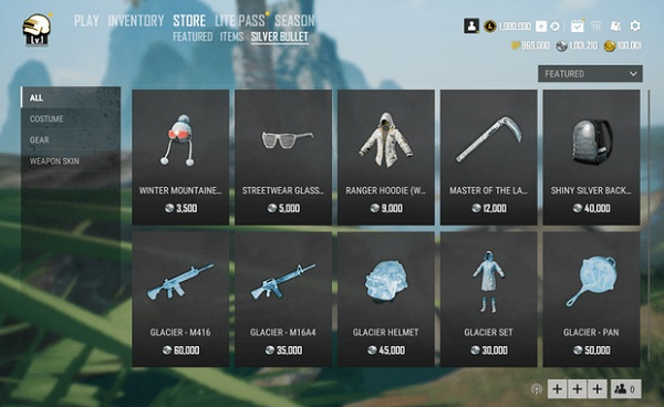 There Are Lots Of Items That Are Being Sold In Silver Bullet Store in PUBG Lite