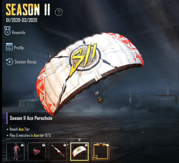 Reward Ace rank - Parachute Skin