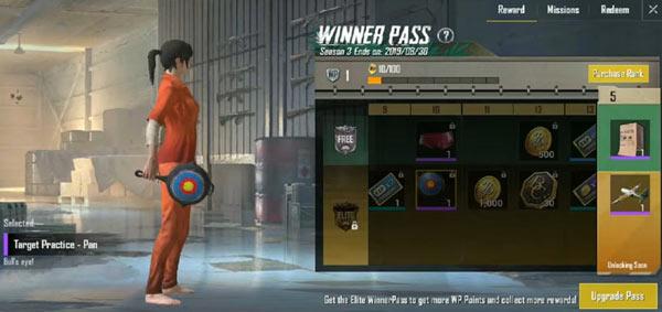 PUBG Mobile Lite Winner Pass - Pan Skin