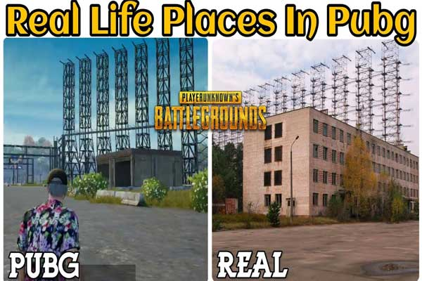 Real areas in PUBG Mobile - a real-life PUBG map (Erangel Map)