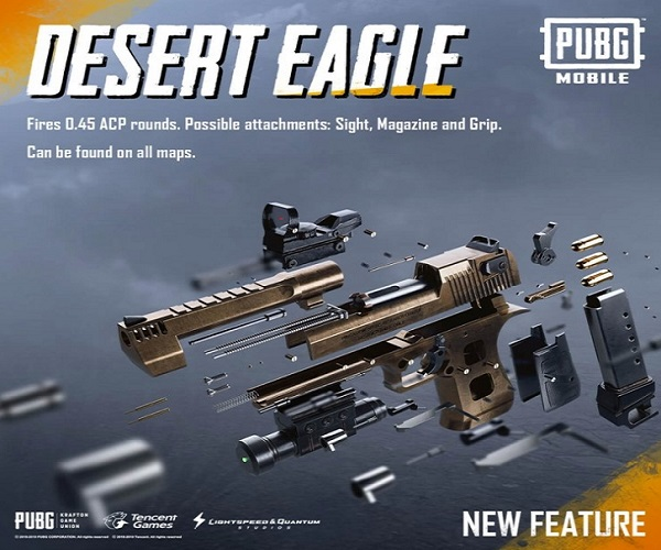 How to use the Desert Eagle in PUBG Mobile