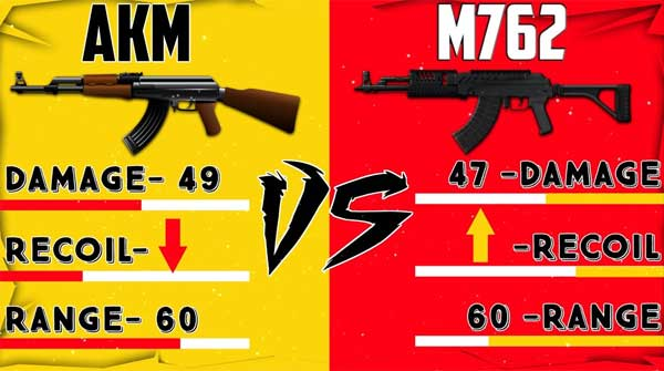 4 typical features to know which gun is stronger, PUBG Mobile M762 or AKM