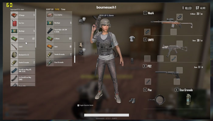 PUBG Lite Weapons