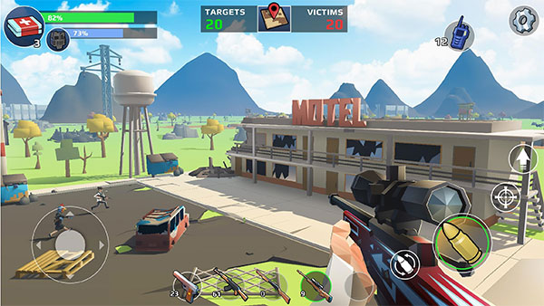 Players can access 30 weapons in Battle Royale: FPS Shooter