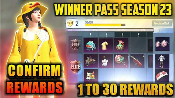 Season 23 Winner Pass All Rewards