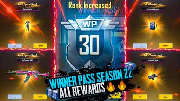 PUBG Mobile Lite Season 22 Winner Pass with list all rewards