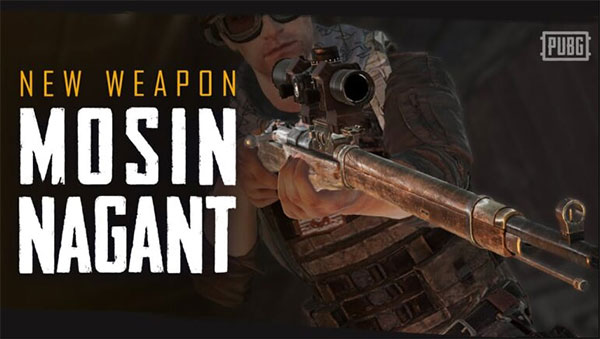 Mosin Nagant Sniper Rifle - a weapon that can be seen in Erangel and Vikendi