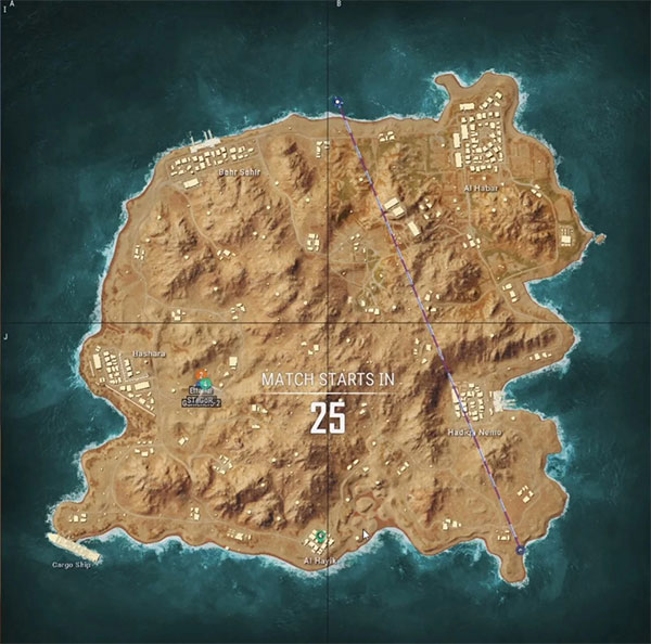 Maps of PUBG New States